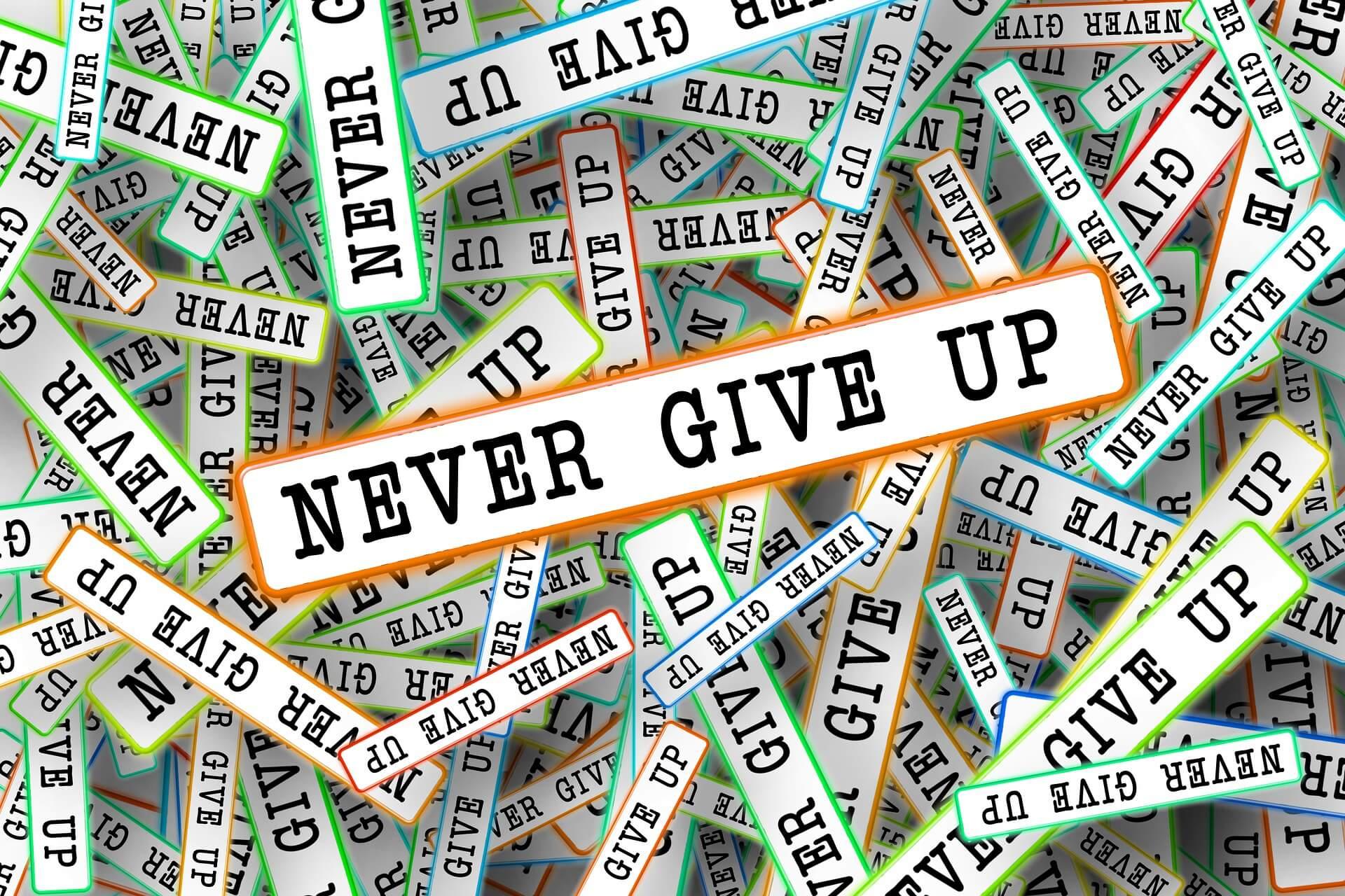 Ne pas abandonner